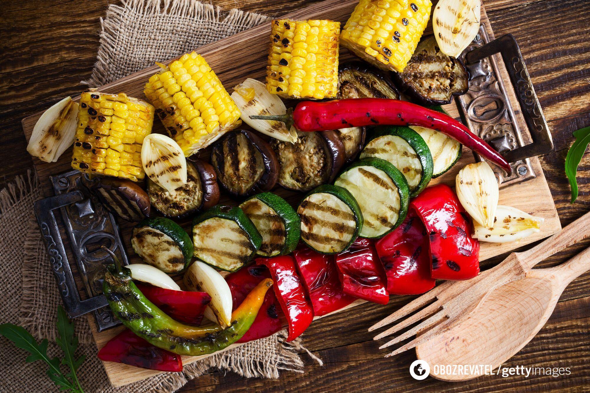 Овочевий шашлк