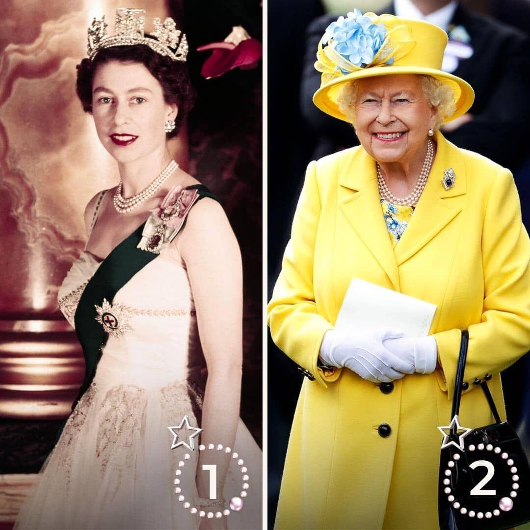 Как Елизавета II выглядела в молодости.