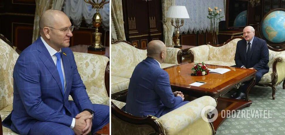 Шевченко під час зустрічі з Лукашенком у Мінську