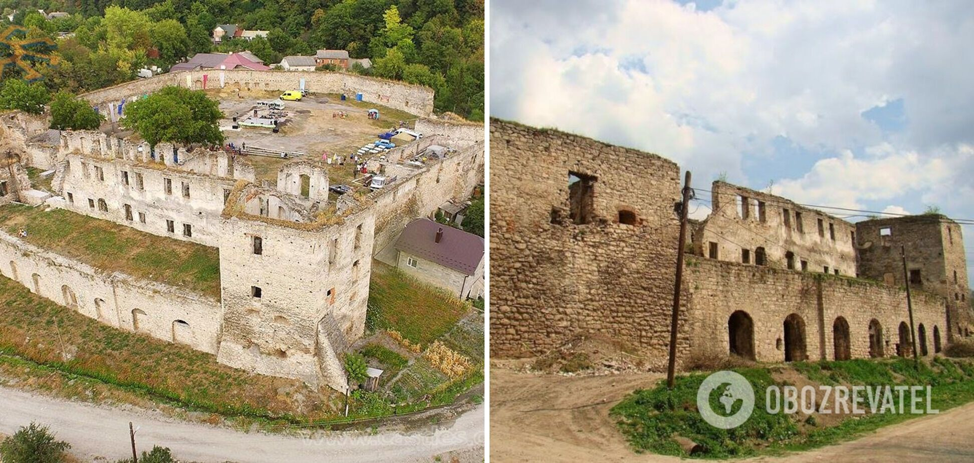 От Чертковского замка на Тернопольщине остались руины.