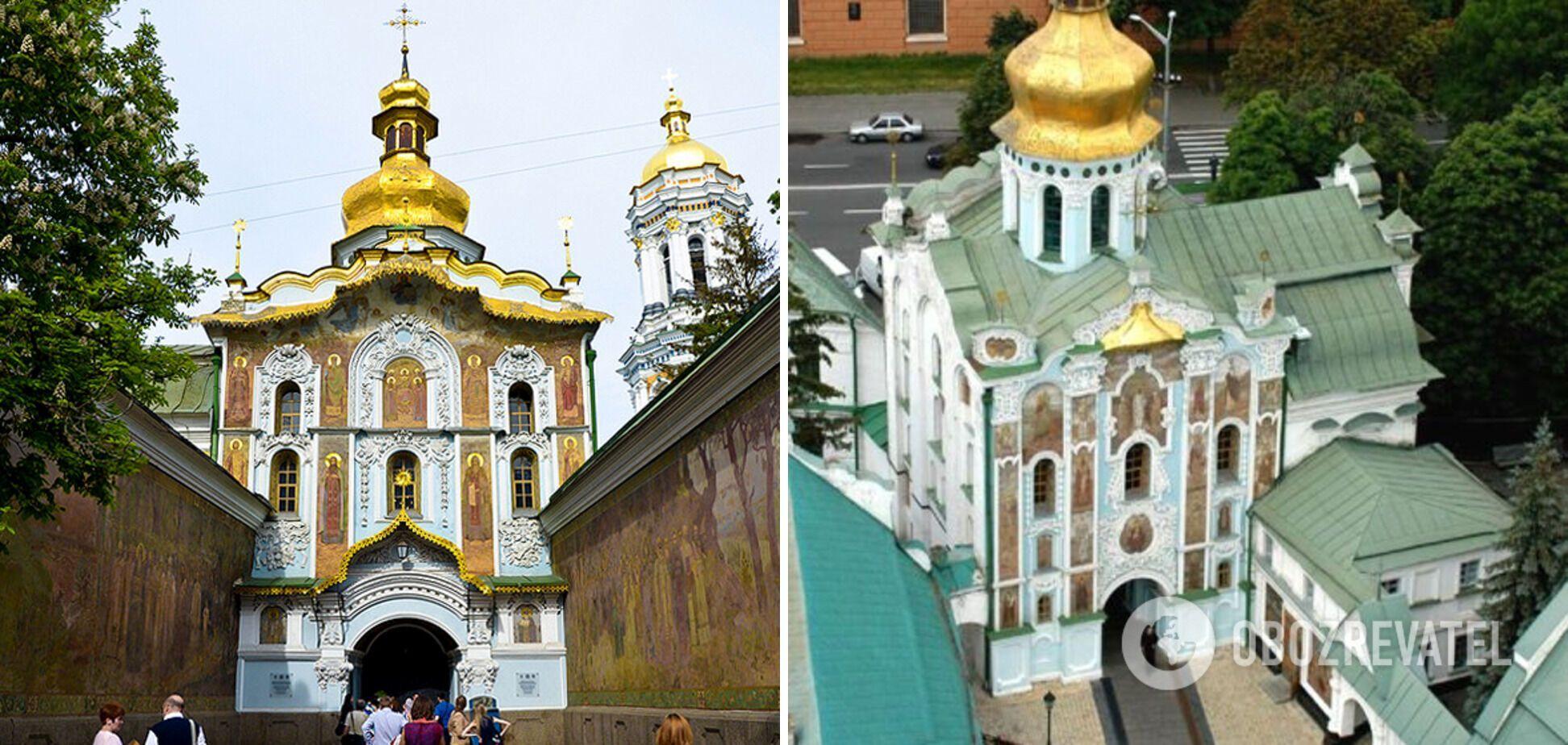 Троицкая надвратная церковь находится у главного входа в Киево-Печерскую лавру.