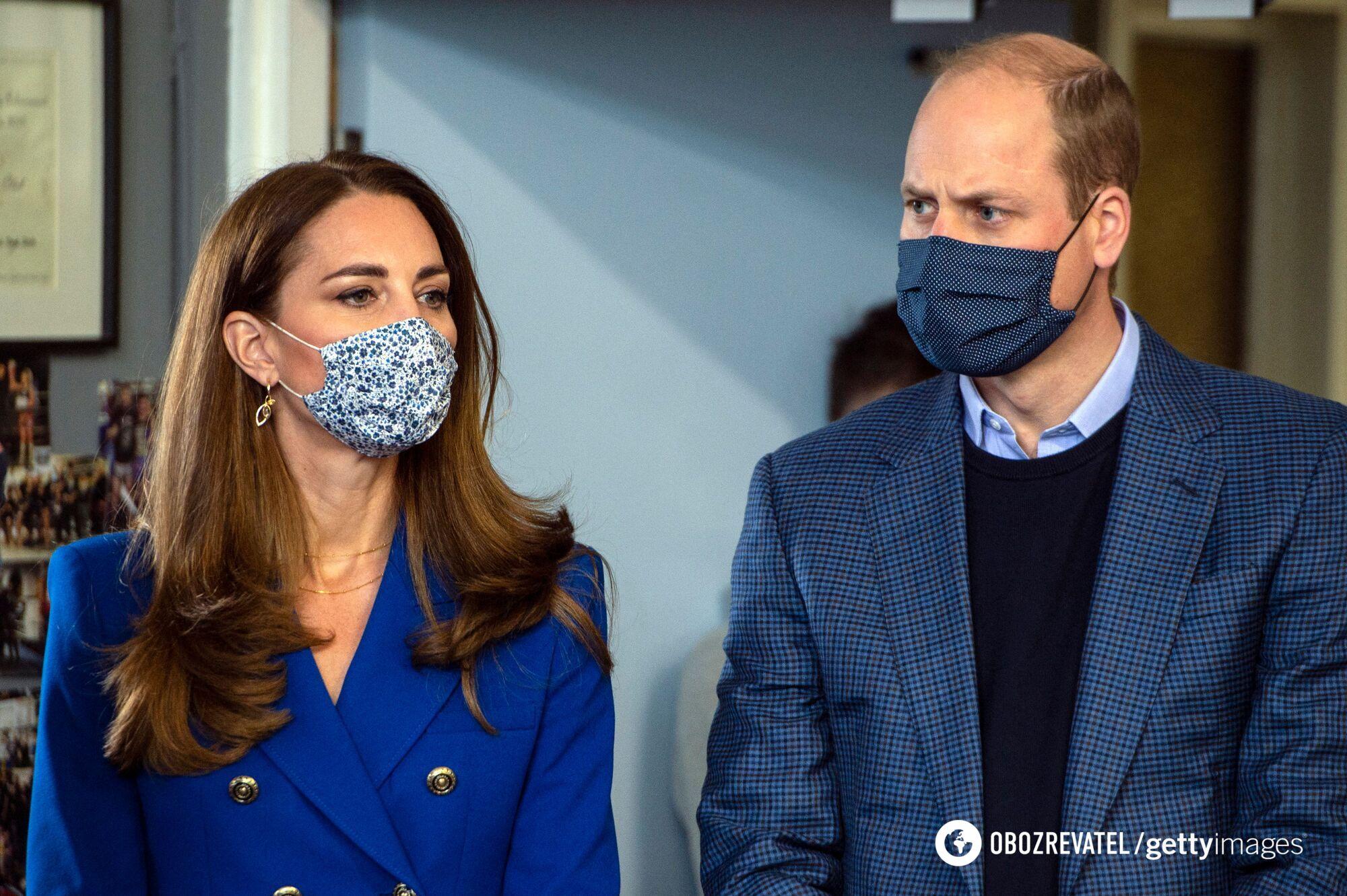 Кейт Миддлтон с принцем Уильямом.