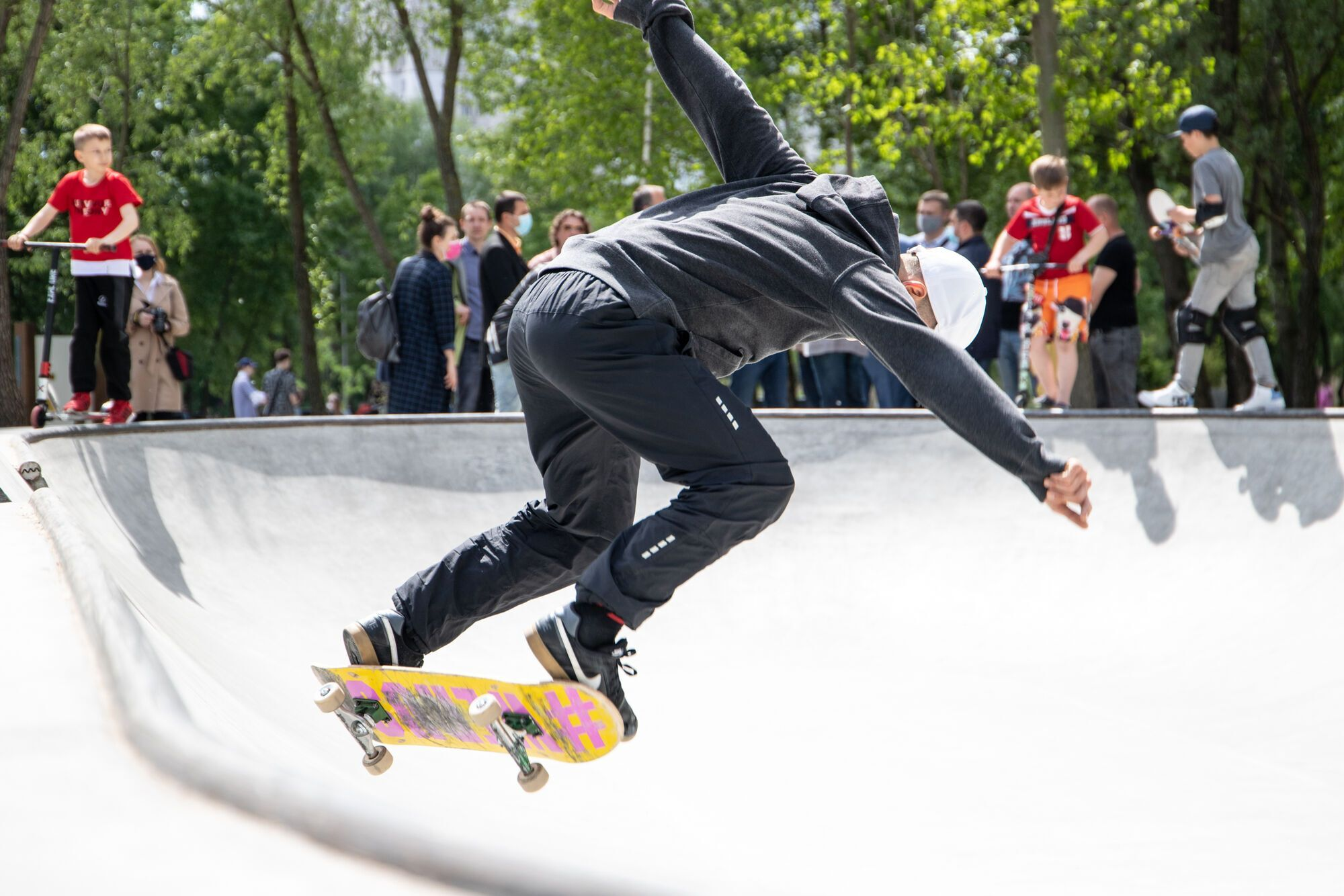 Скейт-зона для молодежи.