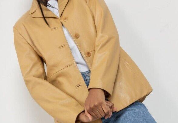 Вінтажний шкіряний піджак