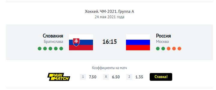 Прогноз букмекеров на Россия - Словакия