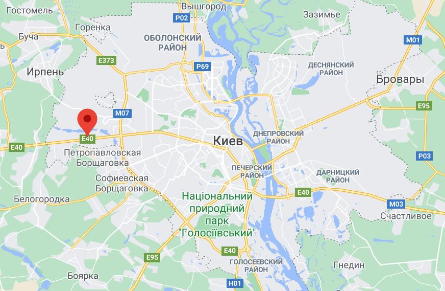 Місце ДТП в Києві.