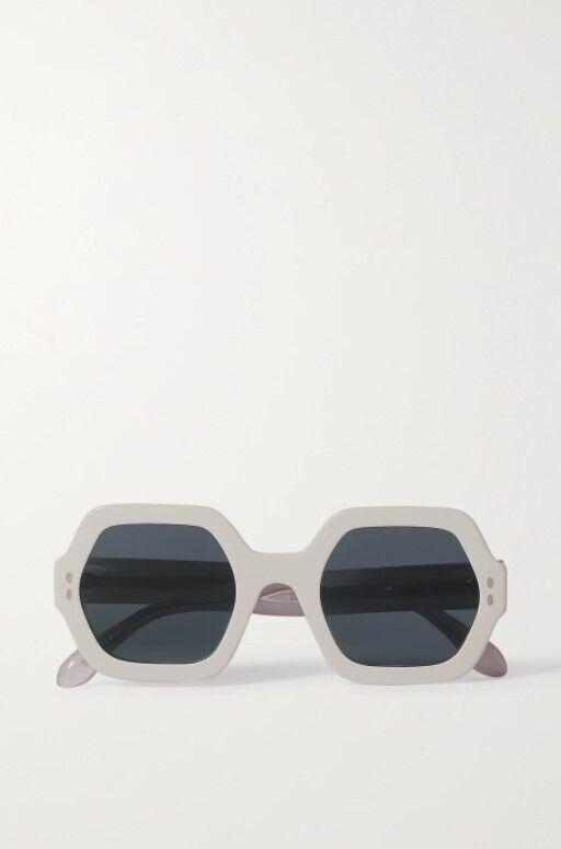 Сонцезахисні окуляри в білій оправі