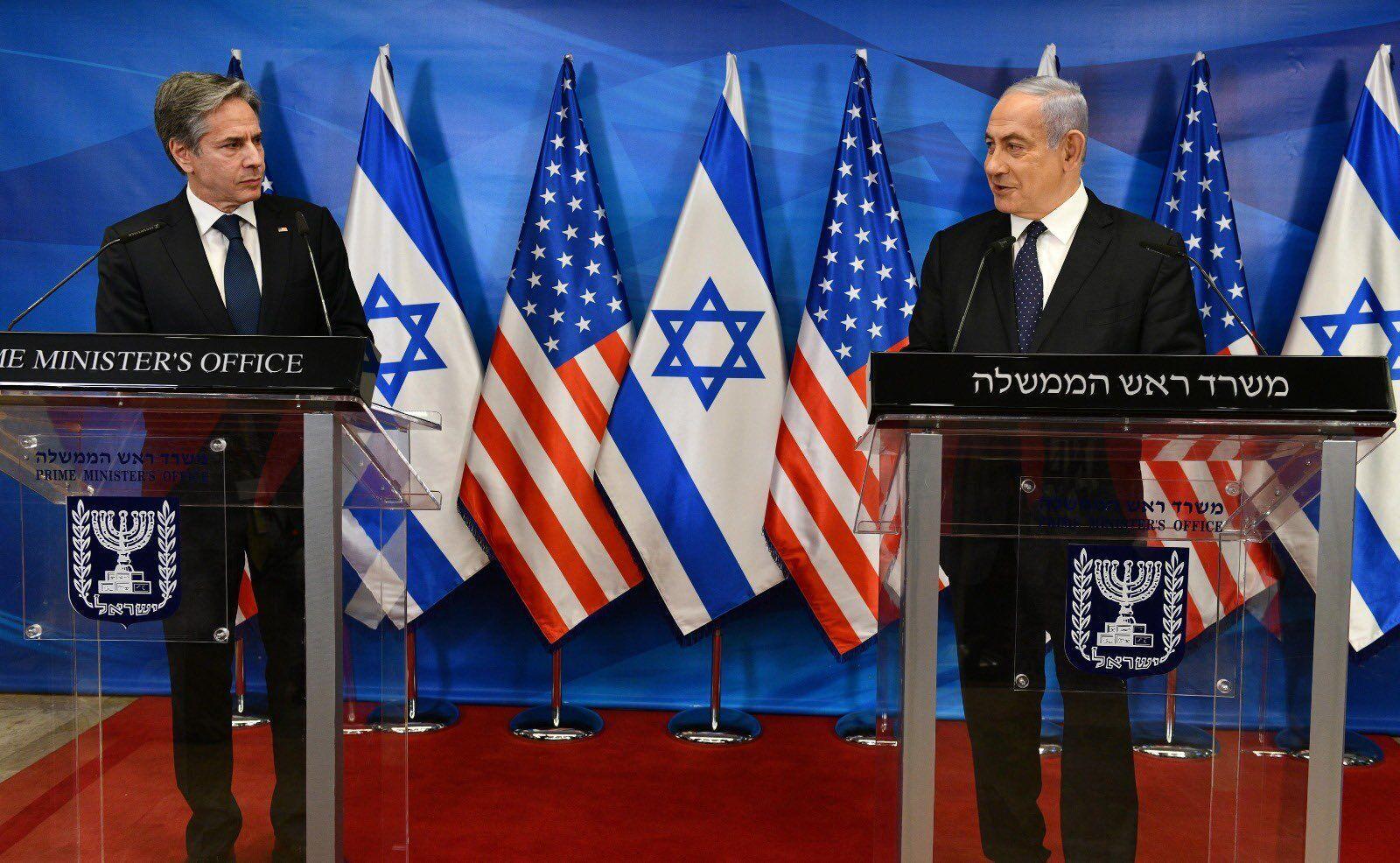 Блінкен і Нетаньягу на прессконференції