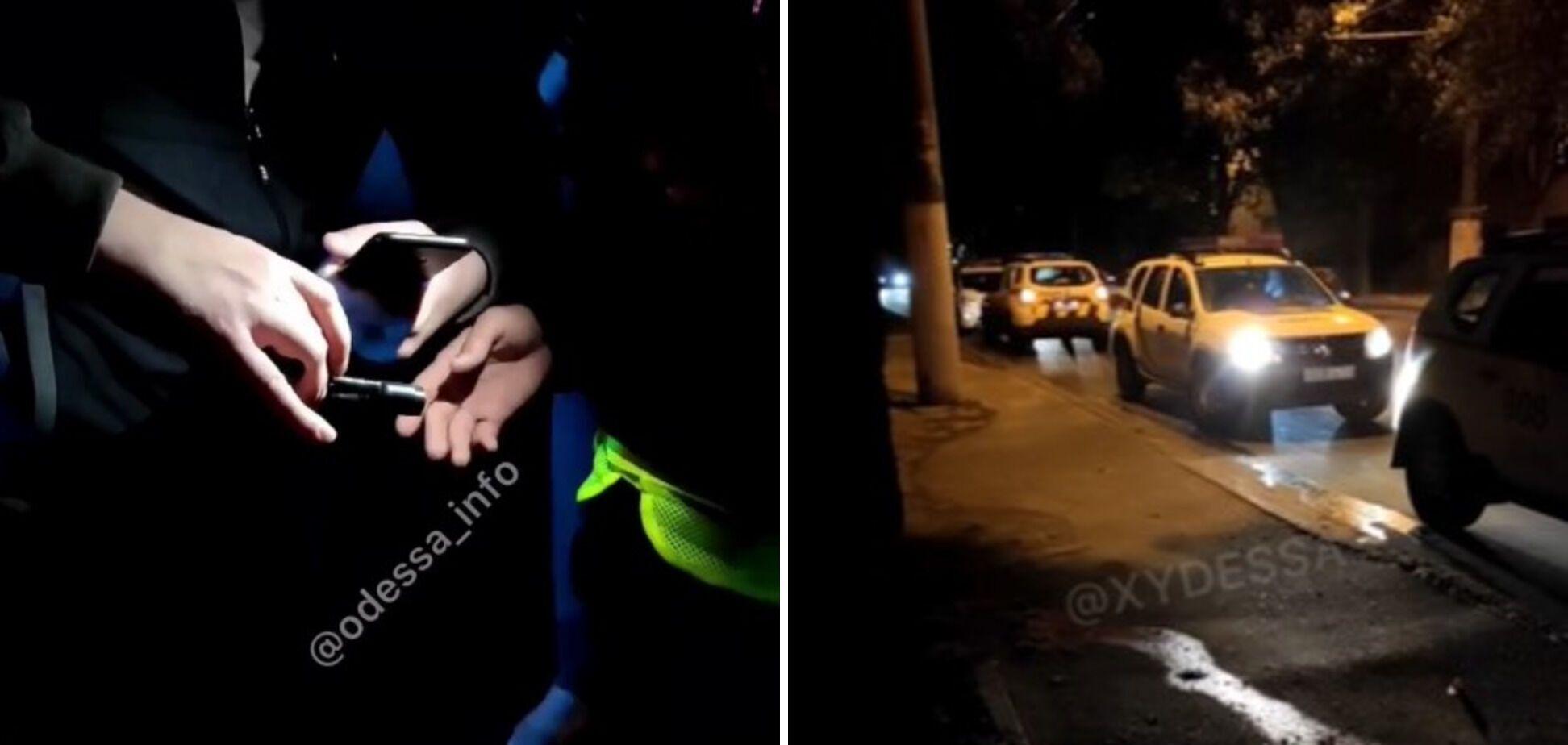 """В Одесі нетверезий чоловік розмахував пістолетом і пропонував копам """"вистрілити йому в голову"""". Відео"""