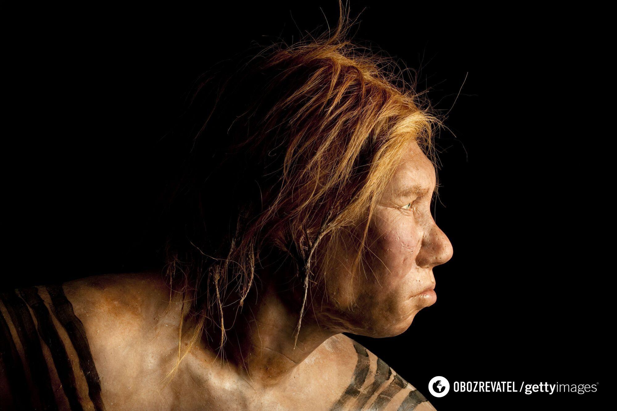 Неандерталец женского пола, реконструкция