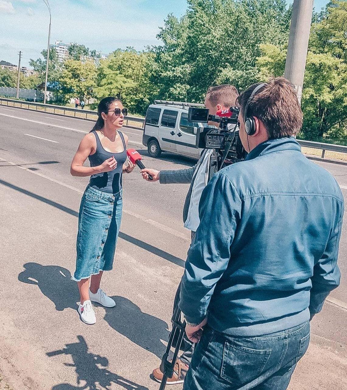 Девушка дала комментарий журналистам об инциденте
