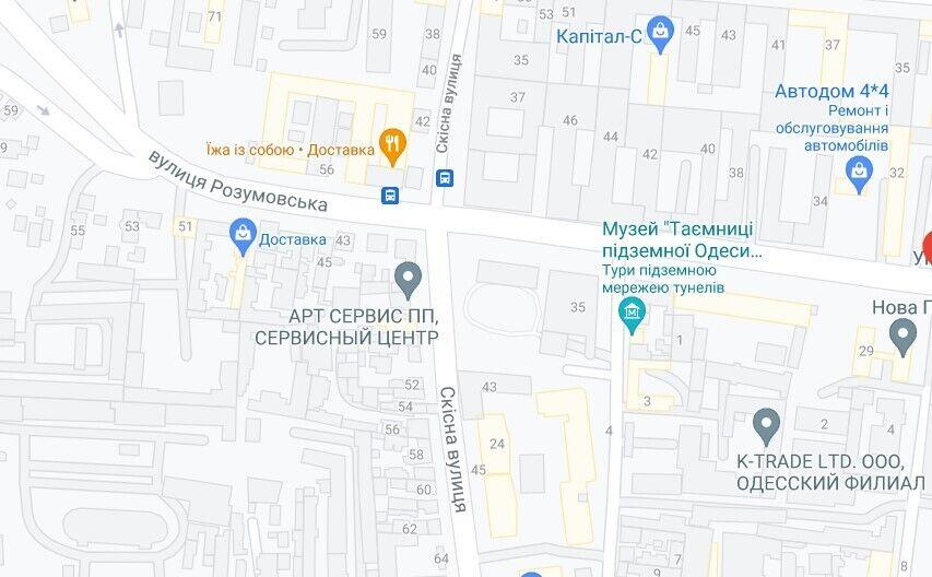 Чоловік влаштував невеличку стрілянину на перехресті вулиць Разумовська і Скісна в Одесі