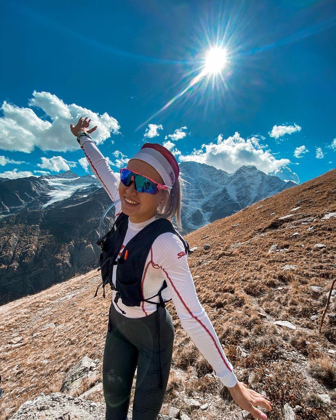 Дарья Сидорова в горах