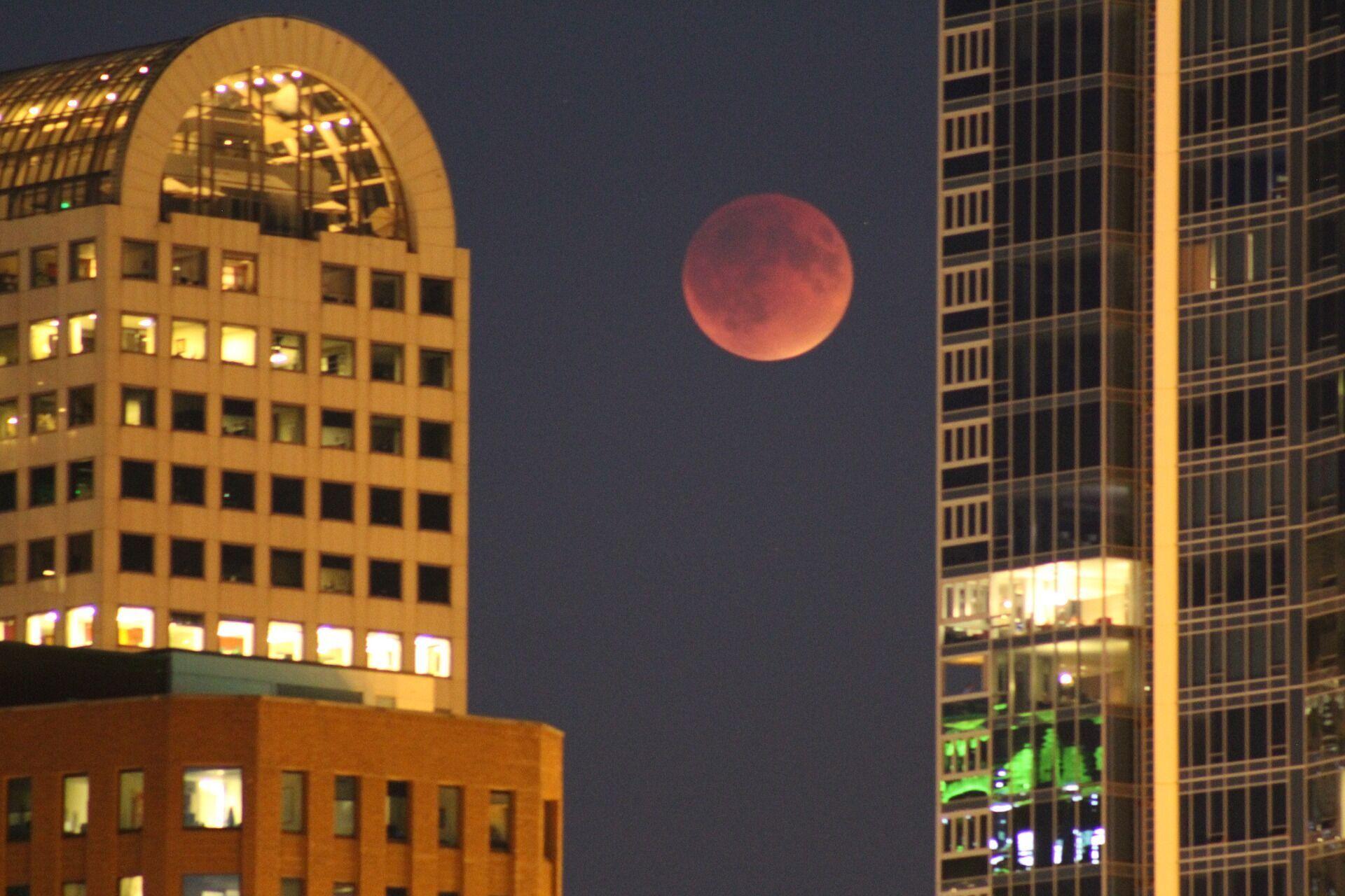 Кровавая Луна над Сиэтлом