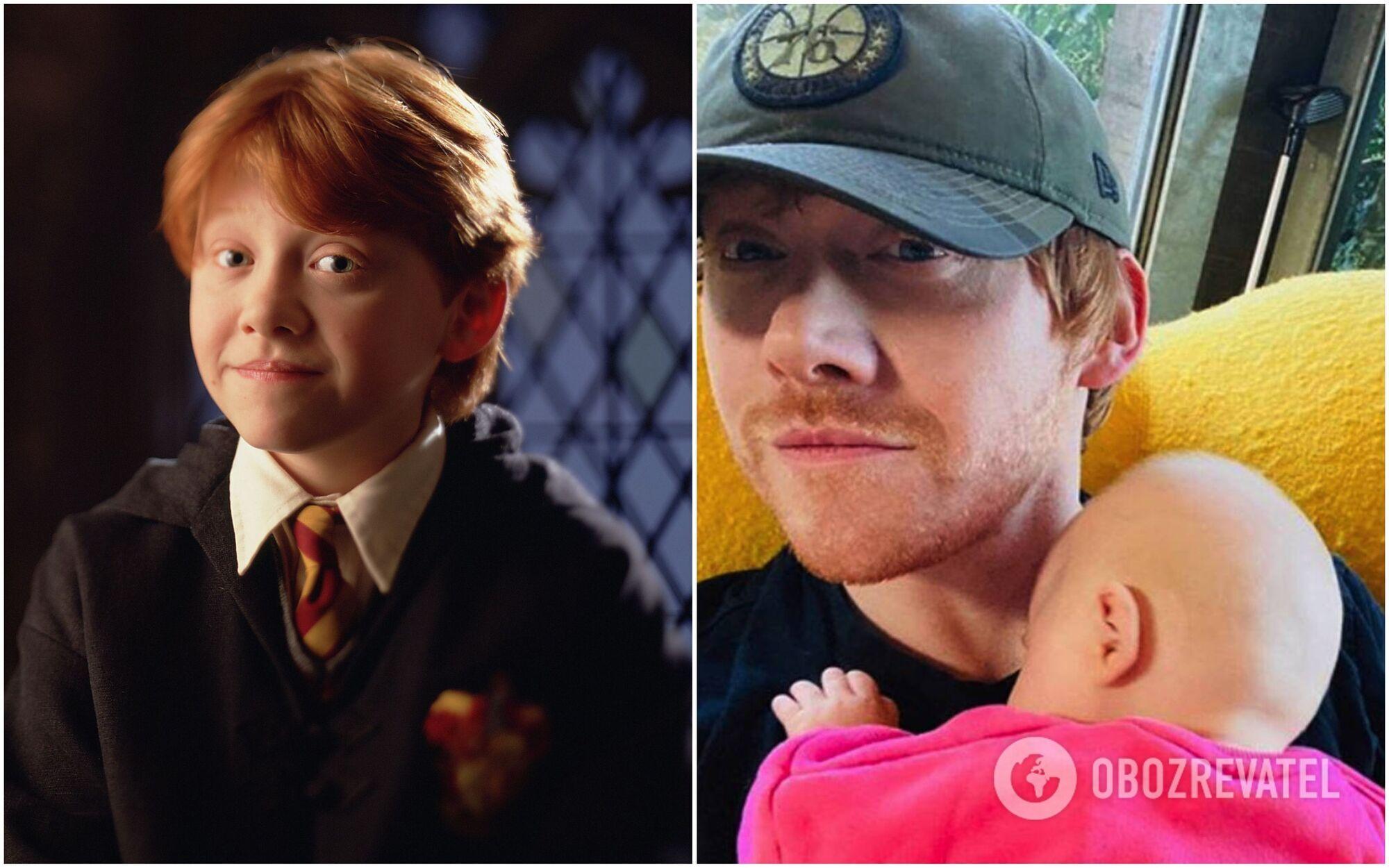 Руперт Грин в первой части Гарри Поттера и сейчас