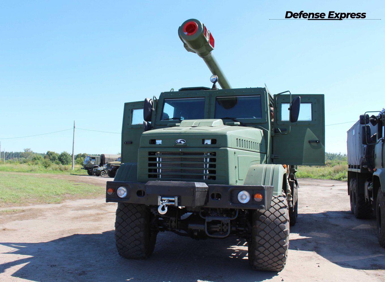 """САУ 2С22 """"Богдана"""" выполнена в НАТОВСКОМ 155-мм калибре."""