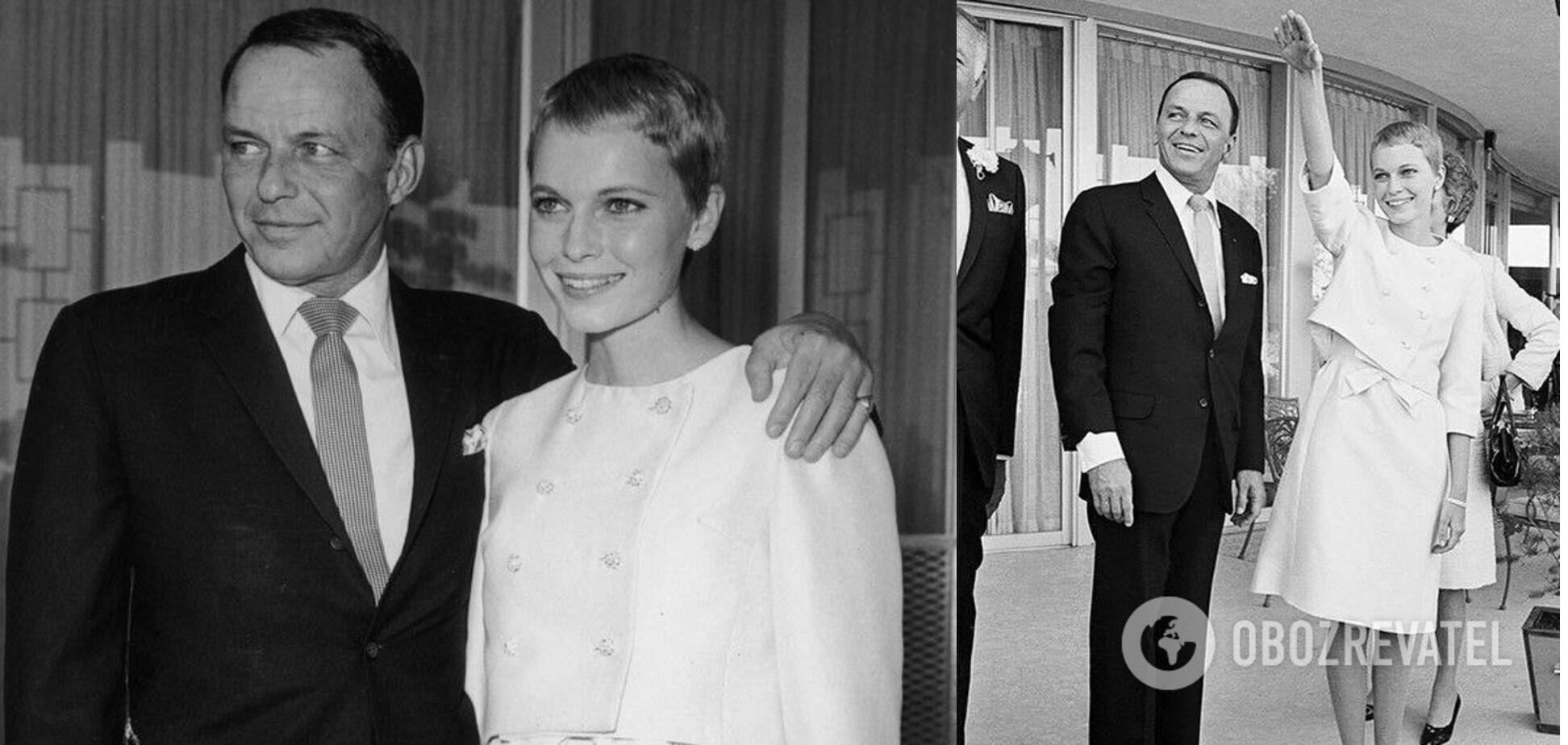 Свадебный образ Мии Фэрроу отражал моду 60-х.