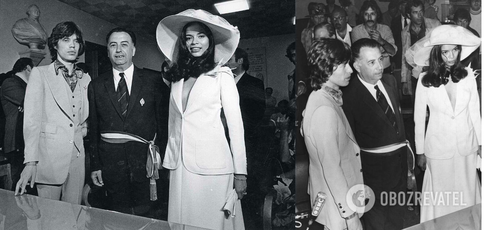 Наряд Бьянки навсегда вошел в историю свадебной моды.