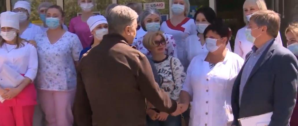 Порошенко передал в Торецкую больницу кислородные концентраторы