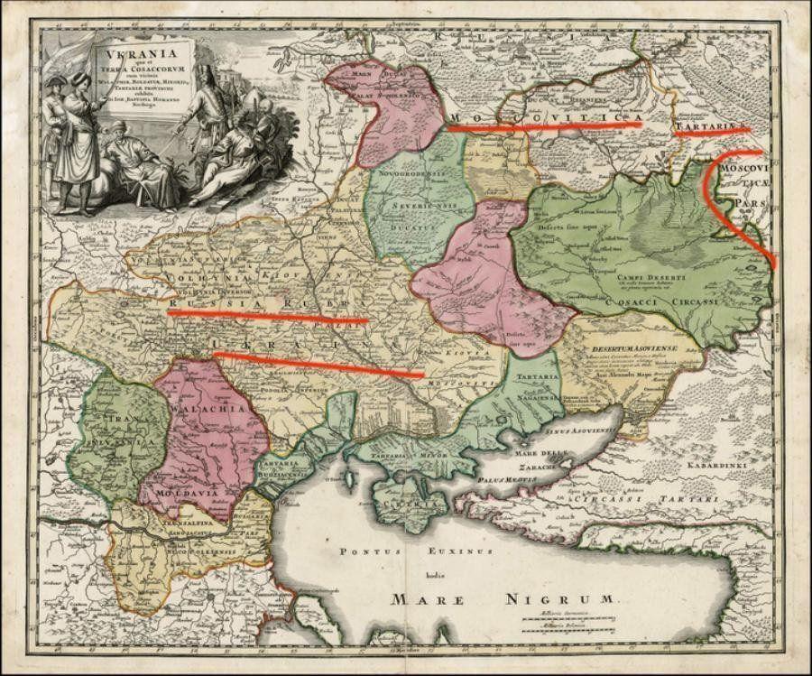 Старовинна карта України XVIII століття