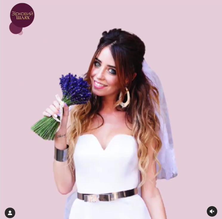 Надя Дорофеева на своей свадьбе