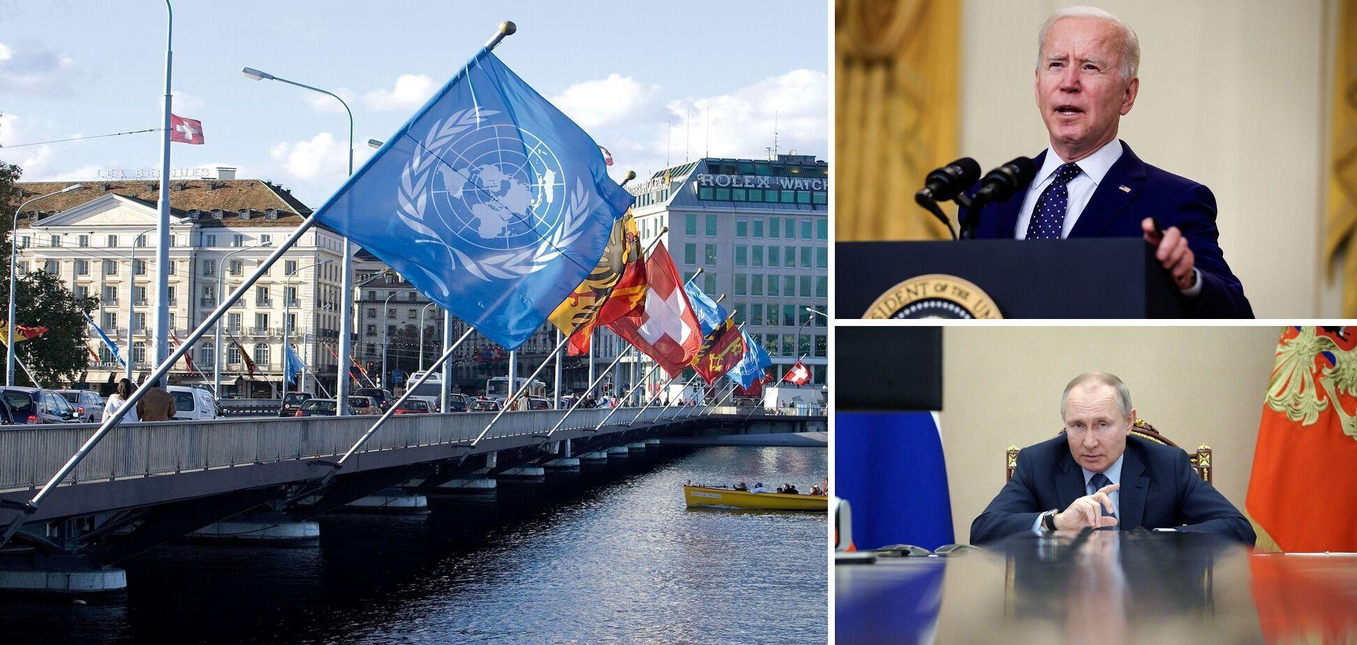 Президент США Джо Байден и президент Владимир Путин встретятся в Женеве