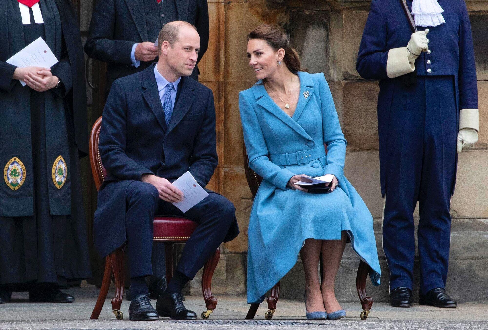 Кейт Миддлтон с мужем принцем Уильямом.
