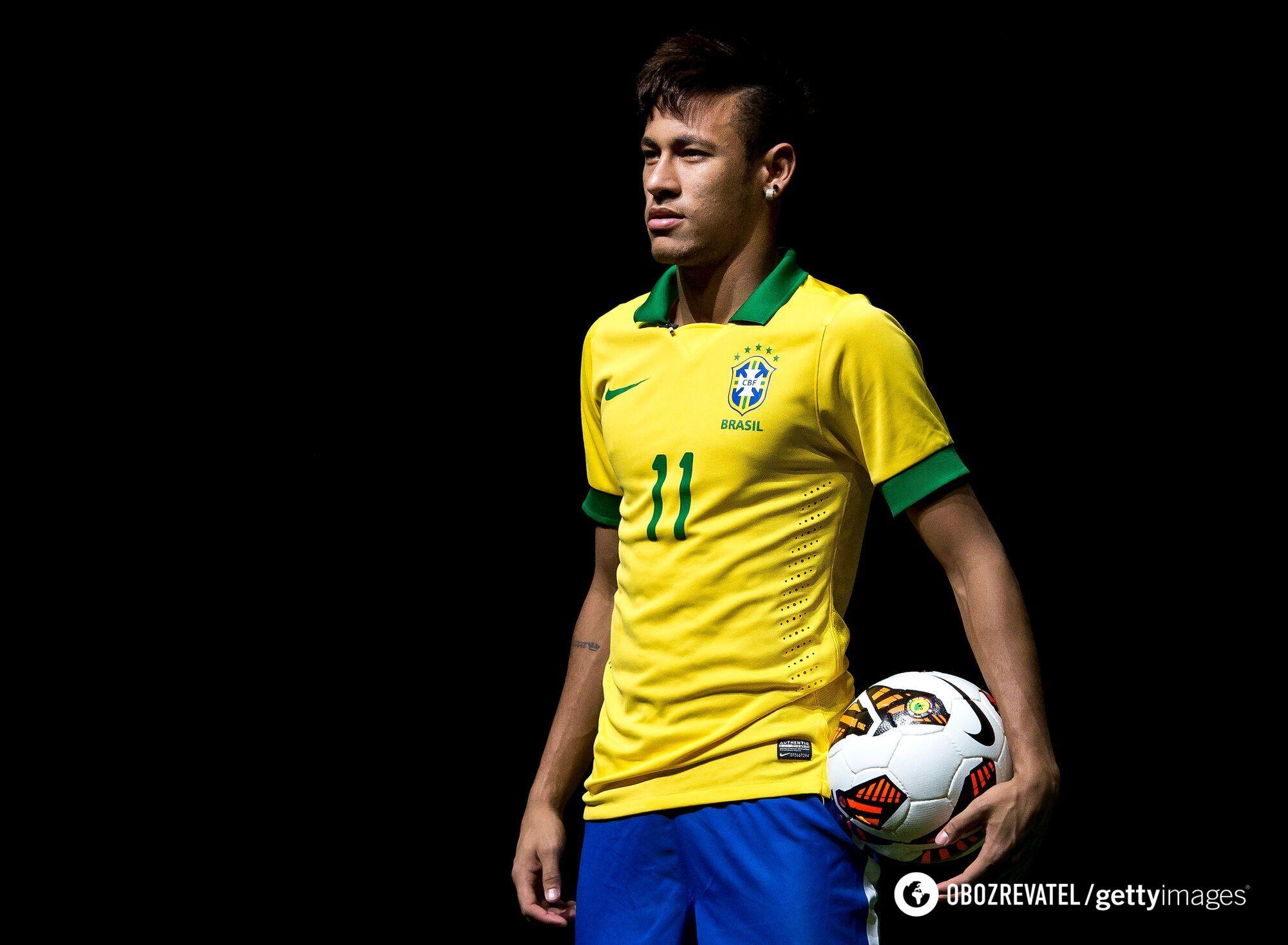 Неймар у формі збірної Бразилії