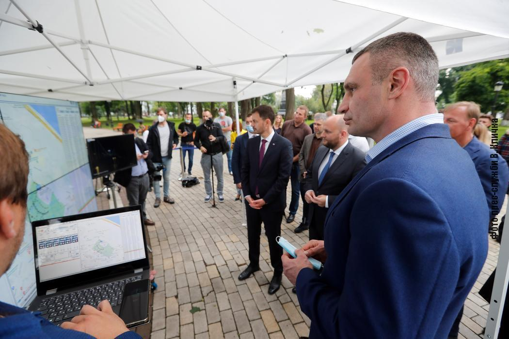 Виталий Кличко на презентации.