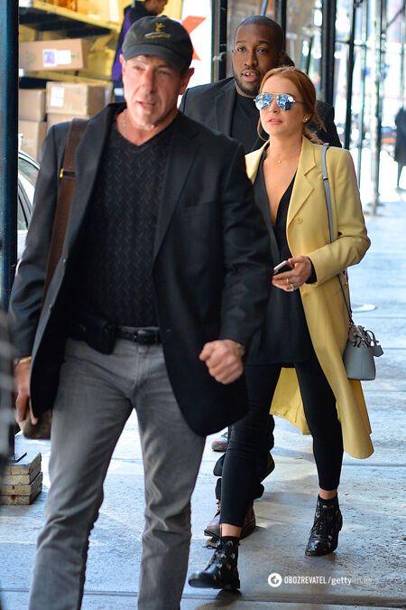 Ліндсі Лохан зі своїм батьком Майклом