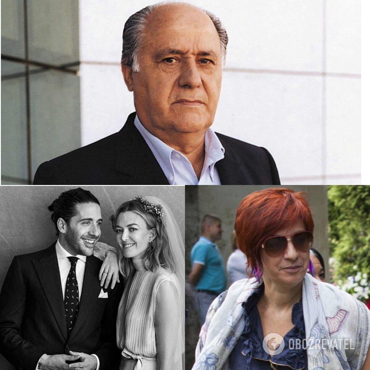 Дети сооснователя Inditex Амансио Ортега: Марта с мужем и Сандра (в очках)
