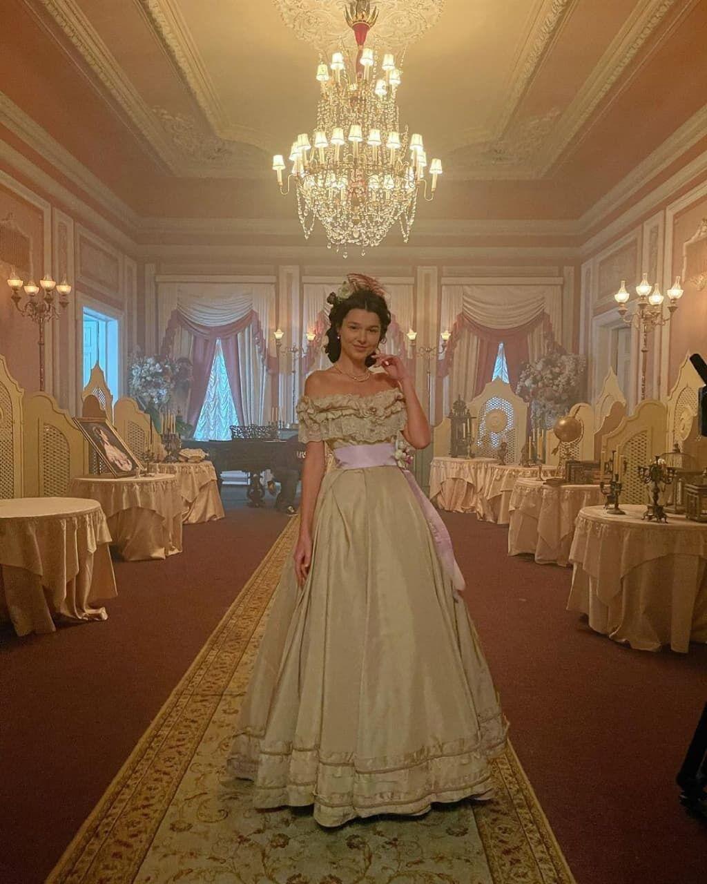 Юлия Бельченко на съемках сериала.