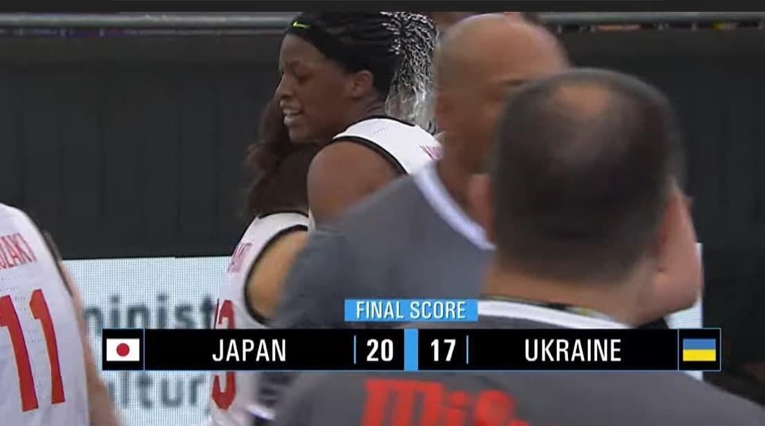 Японія обіграла Україну з рахунком 20:17