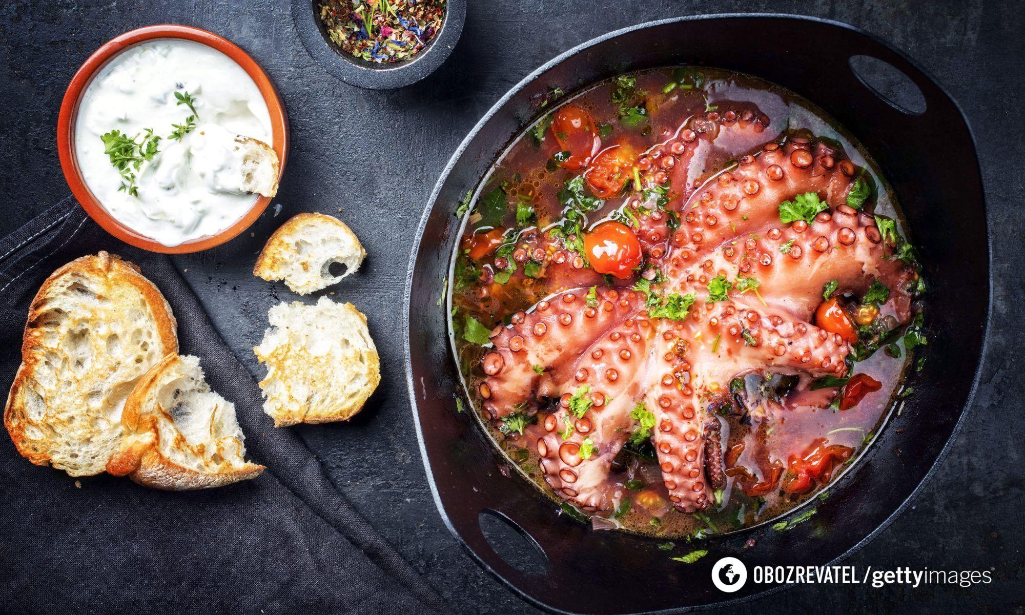 Блюда из осьминога могут быть опасными