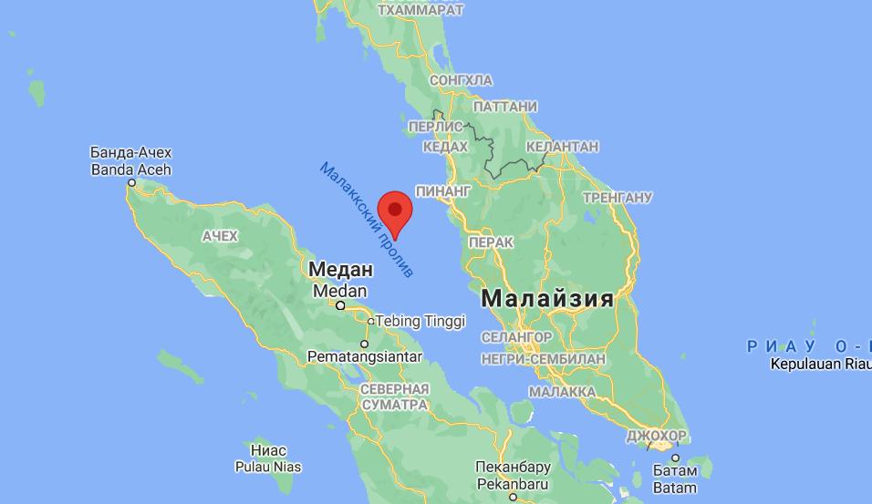 Инцидент произошел у берегов Малайзии.