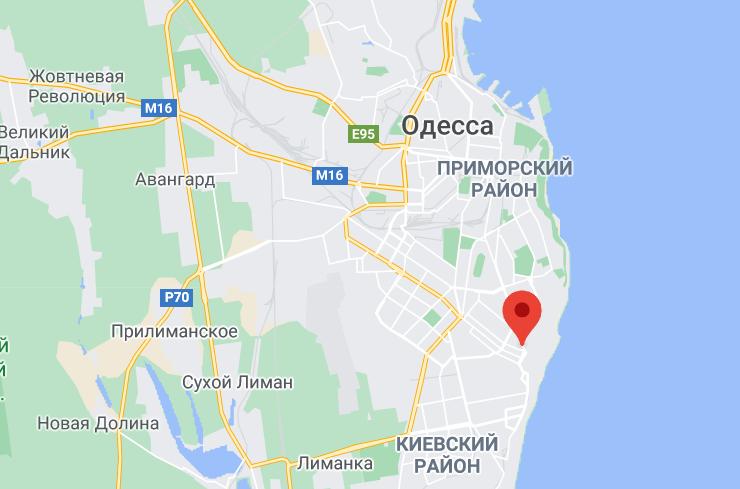 Вибух стався на вулиці Фонтанська.