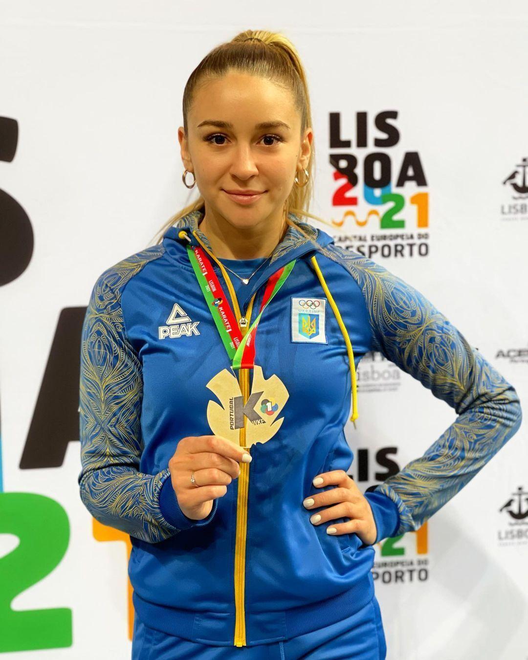 Анжеліка Терлюга із золотою медаллю