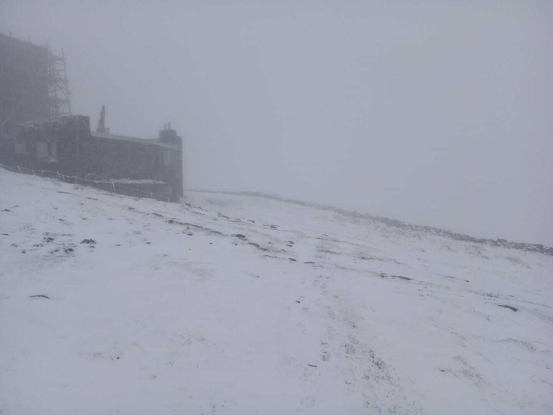 Снег на Черной горе в конце мая 2021 года