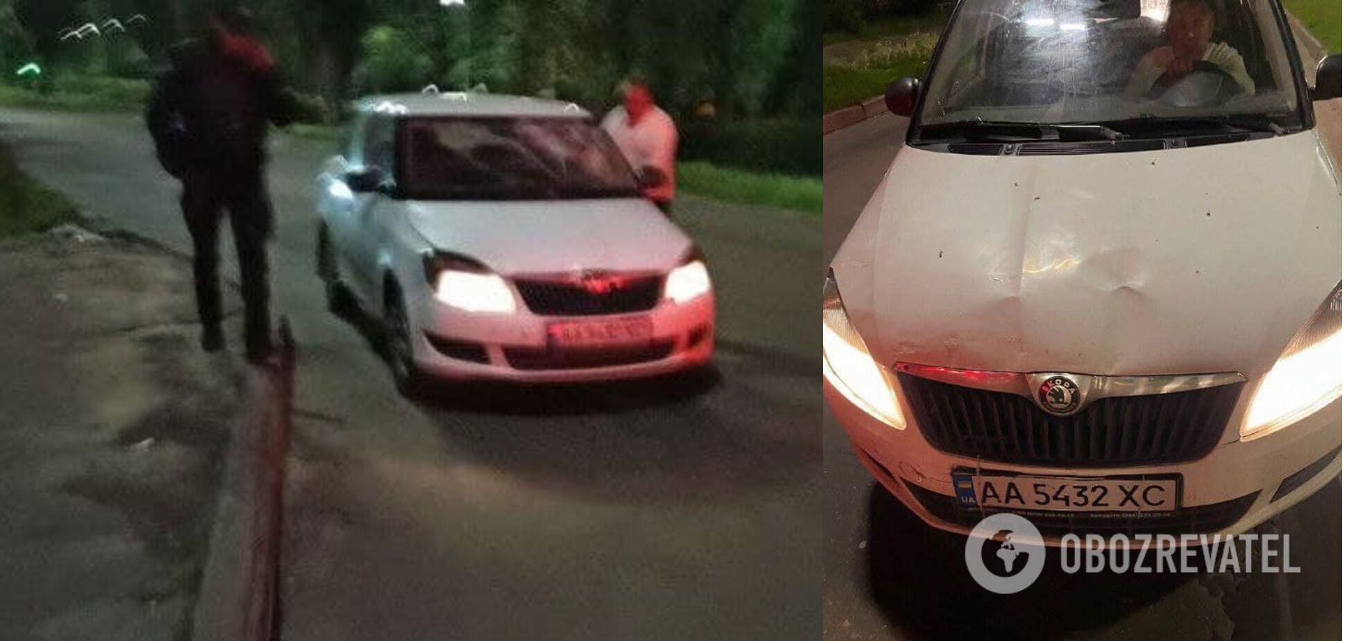 Таксист на Skoda Fabia сбил парня
