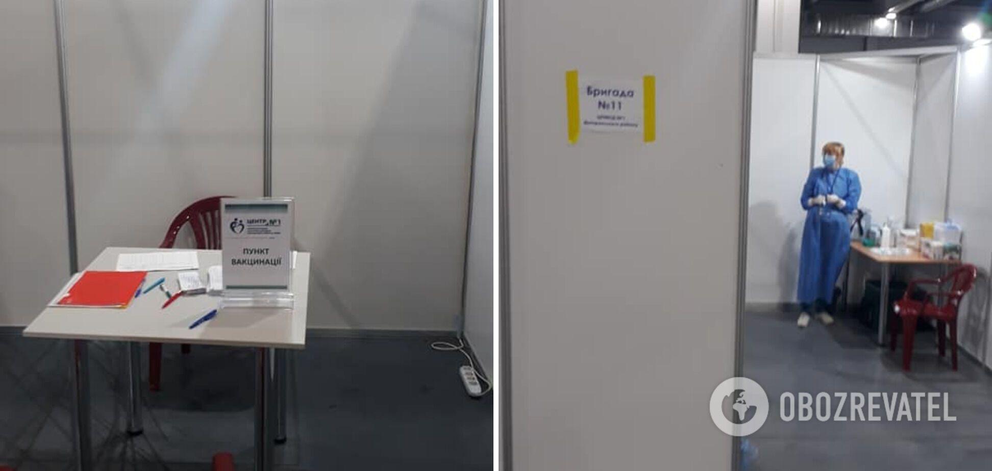 У МВЦ центр вакцинації відкрили на 3-му поверсі 4-го павільйону