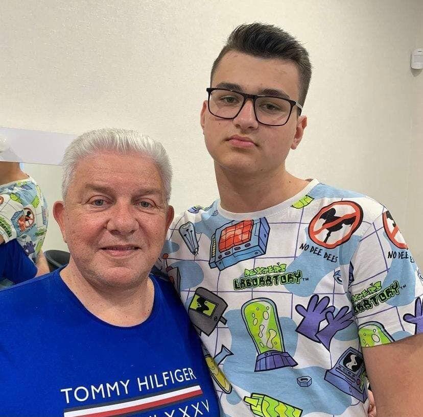Олег Філімонов з онуком