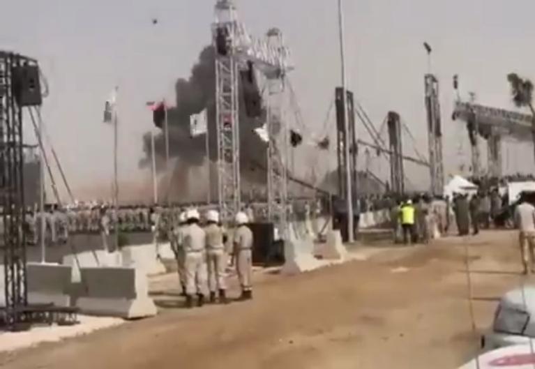 Падение военного самолета