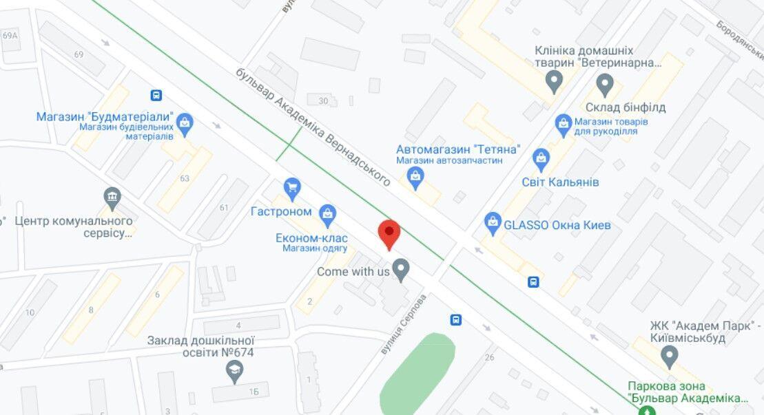 Инцидент произошел на бульваре Вернадского в Киеве