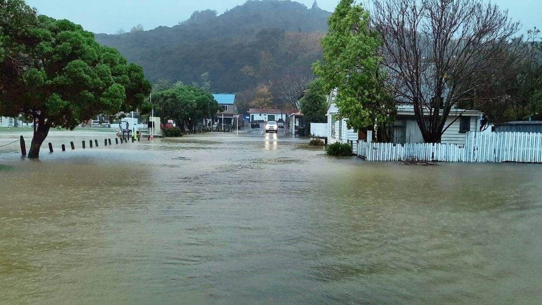 Селище Акароа під час повені