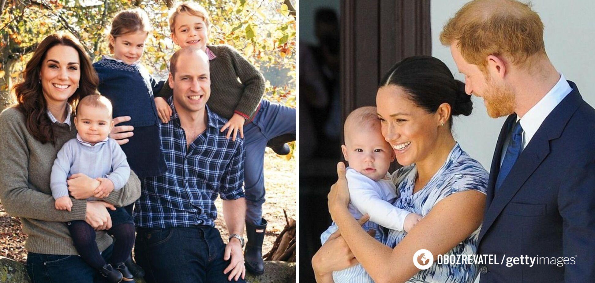 Кейт Міддлтон, принц Вільям, Меган Маркл і принц Гаррі зі своїми дітьми