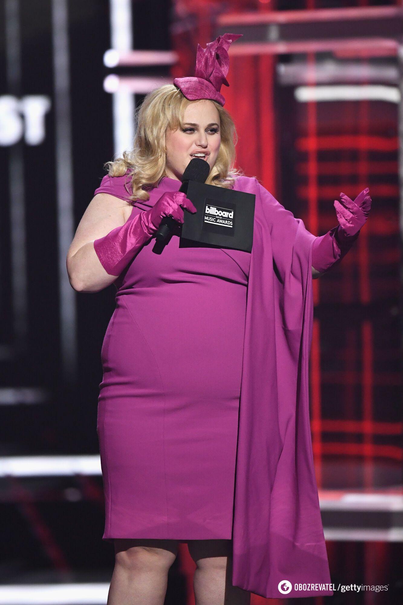 Ребел Вілсон до схуднення.