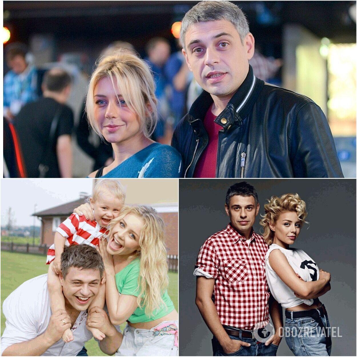 Евгений Огир и Тина Кароль в разные годы