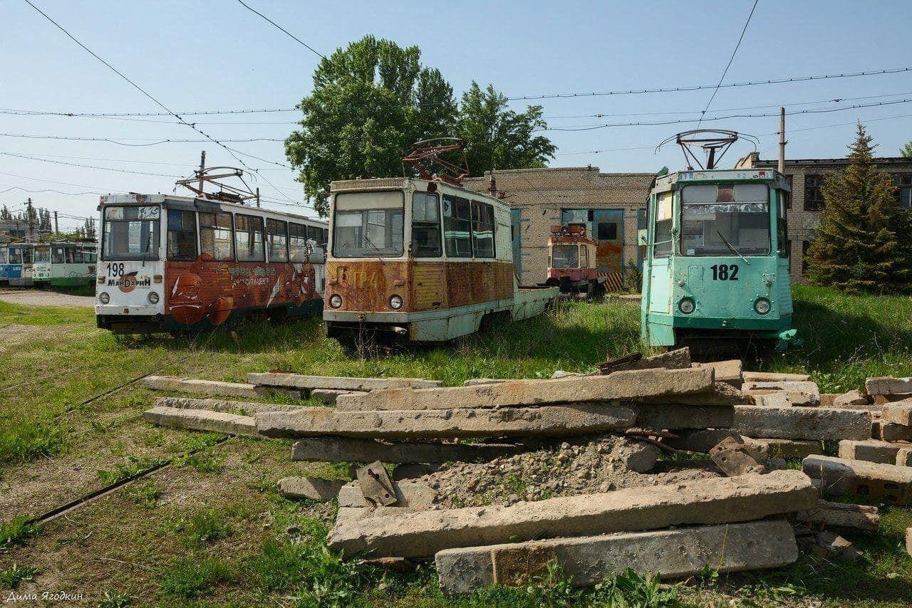 Трамваї у тимчасово окупованому Луганську