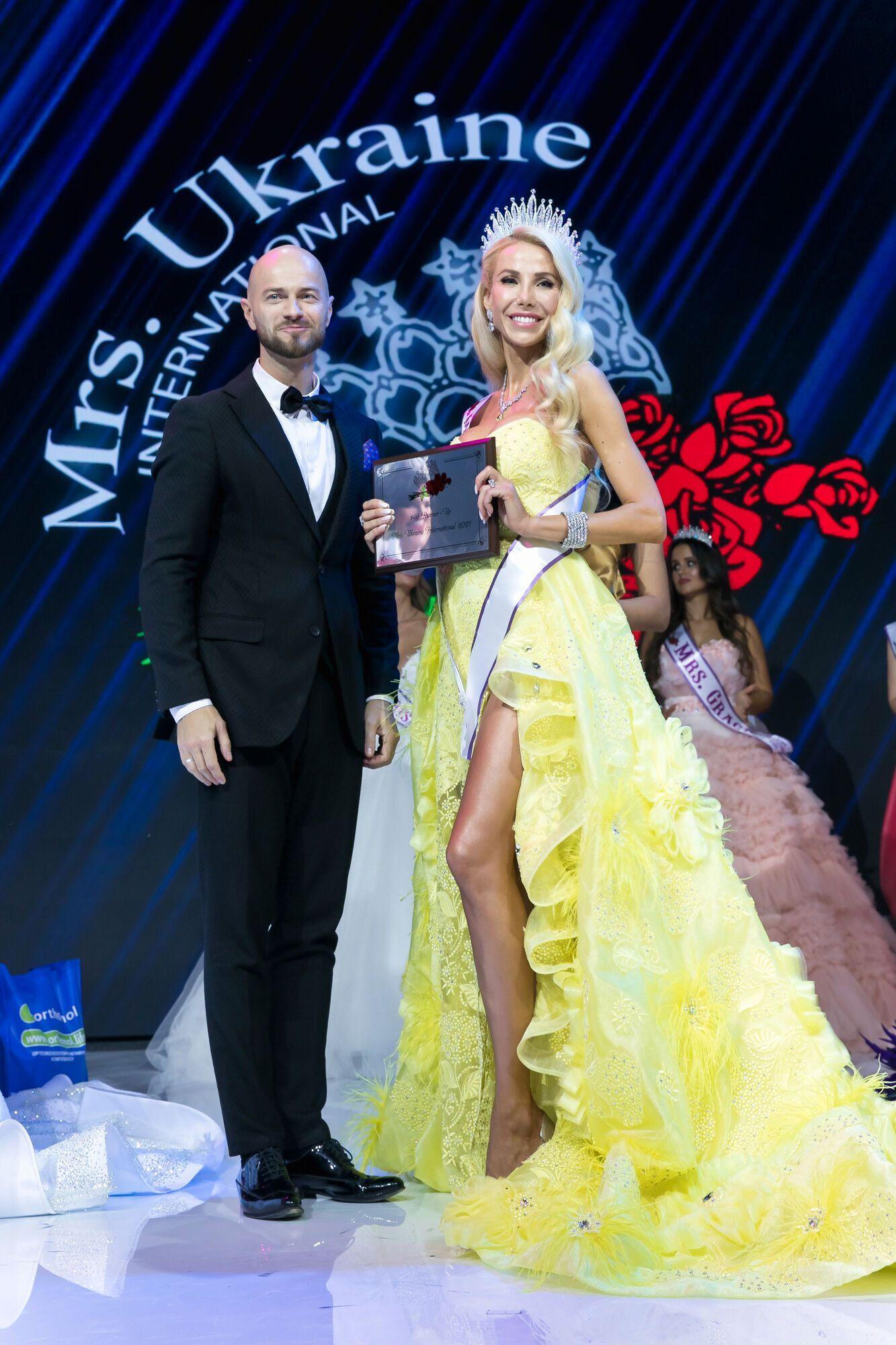 Влад Яма, Юлия Фаист (1st Runner-Up Mrs. Ukraine International 2021 ).