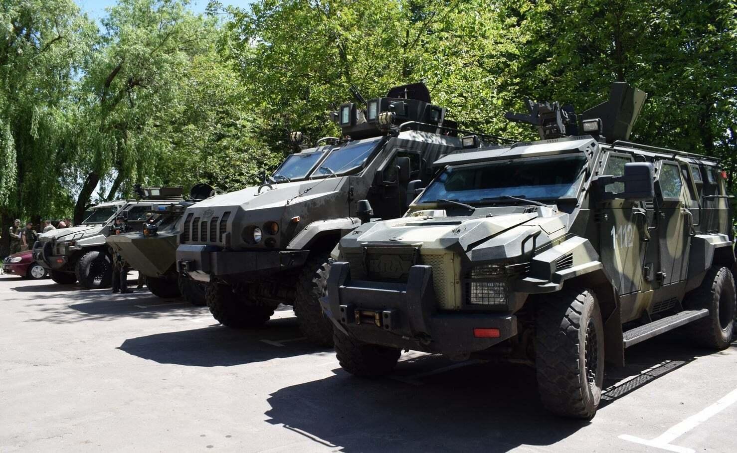 Боевые машины, которые привлекались к учениям в Авдеевке
